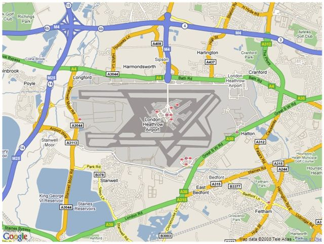 Heathrow Airport Map